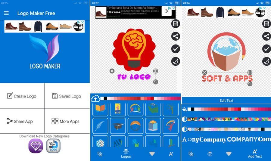 Crear logotipo en Android con la app Logo Maker Gratis