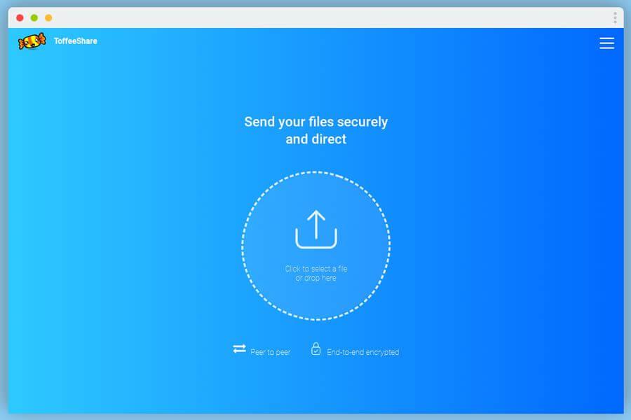 Transferencia de archivos segura y directa con ToffeeShare