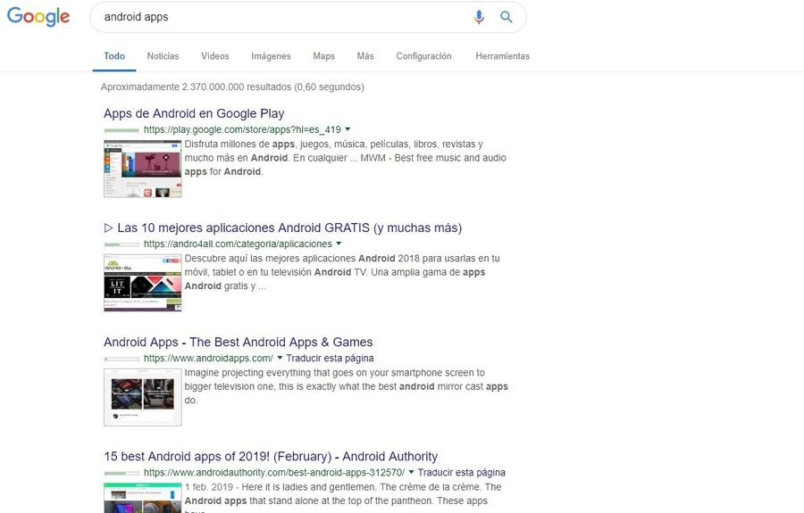Vista previa de búsquedas en Google con una extensión para Chrome