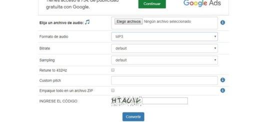 Convertir audio online y gratis