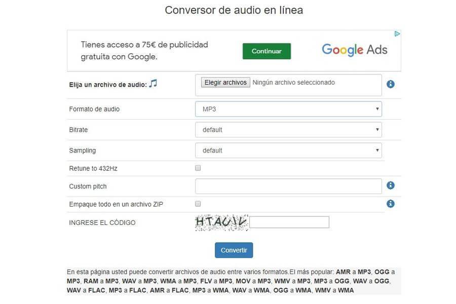 Convertir audio online y gratis con una genial aplicación web