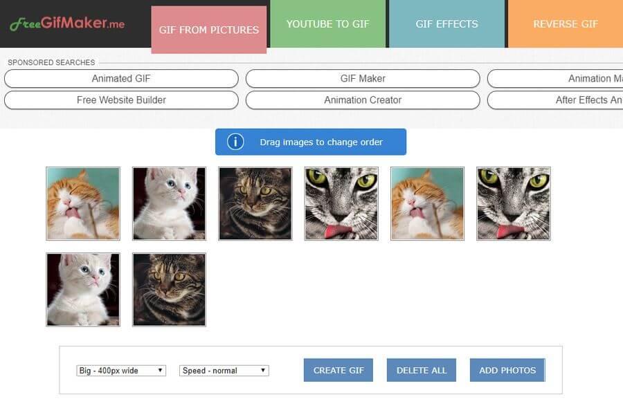 Crear GIFs animados gratis y online con FreeGifMaker