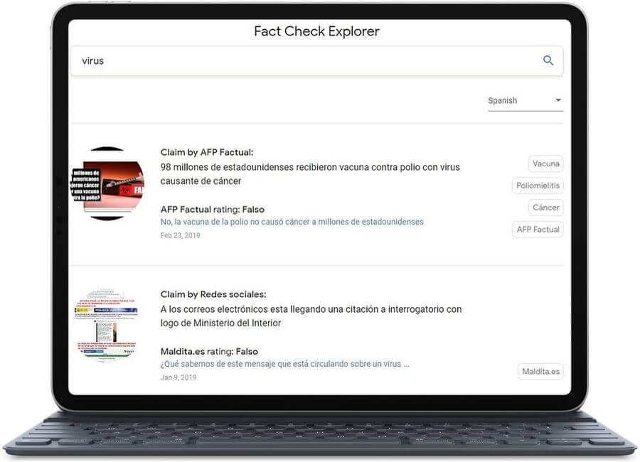 Fact Check Explorer: la nueva web de Google para detectar Fake News
