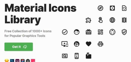 Más de 1000 iconos Material Design gratuitos