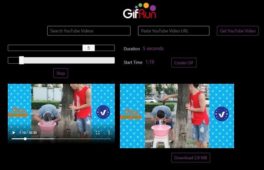 YouTube Gif Maker: aplicación web para convertir vídeos de YouTube a GIFs