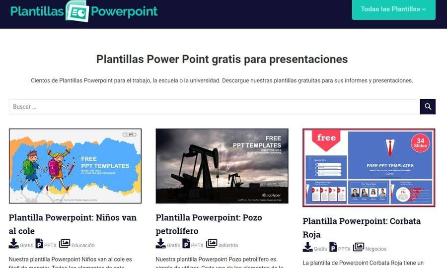 5 páginas para descargar plantillas PowerPoint gratis y para Google Slides