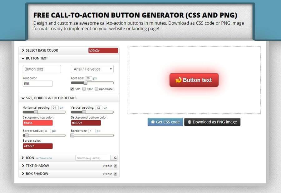Generador de botones Call-to-Action, online y gratuito