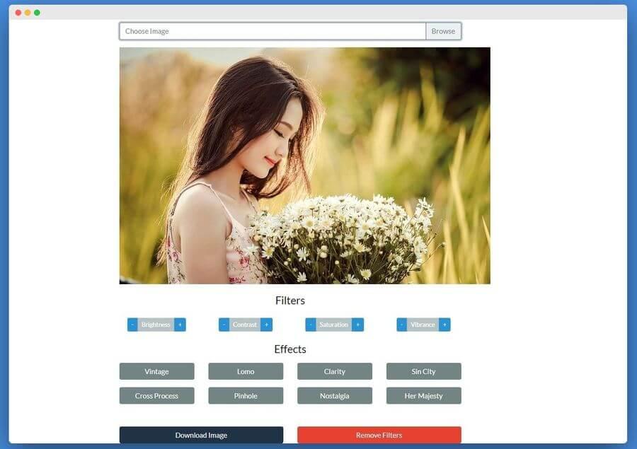 Aplicar filtros y efectos online a tus imágenes con un clic