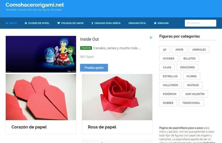 Aprender origami o papiroflexia fácilmente en estos 3 sitios