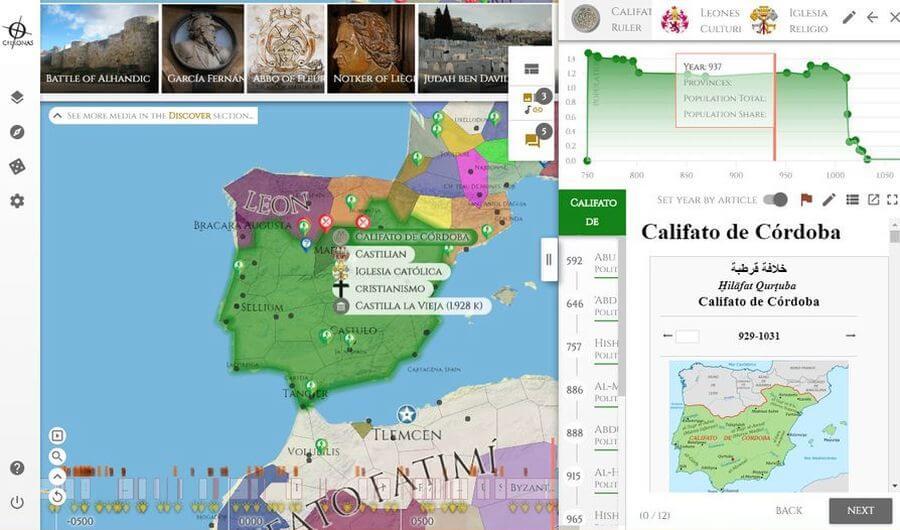 Chronas: increíble mapa interactivo para descubrir la historia del mundo