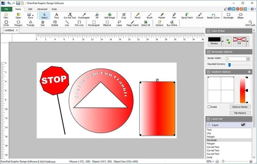 DrawPad Graphic Editor: software gratis para dibujo y edición gráfica