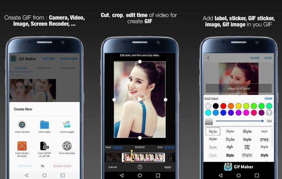 Editor de GIF para Android
