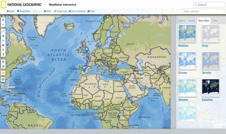 NatGeo MapMaker Interactive: crea mapas interactivos gratis on