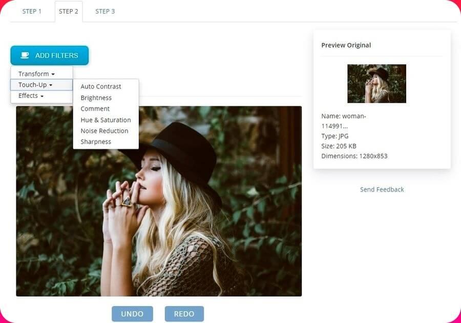 Photo Size Reducer: web para reducir, editar y convertir imágenes gratis