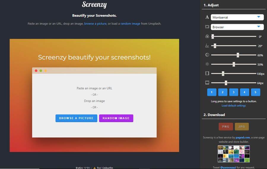 Embellecer imágenes y capturas de pantalla con Screenzy