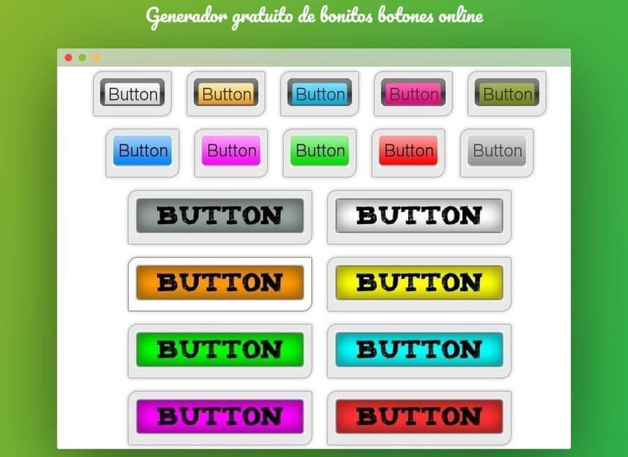 Generador de botones online y gratis para la web y apps