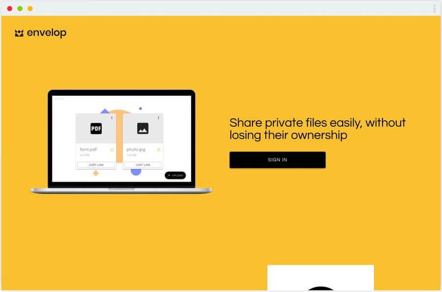 Compartir archivos privados fácilmente desde envelop