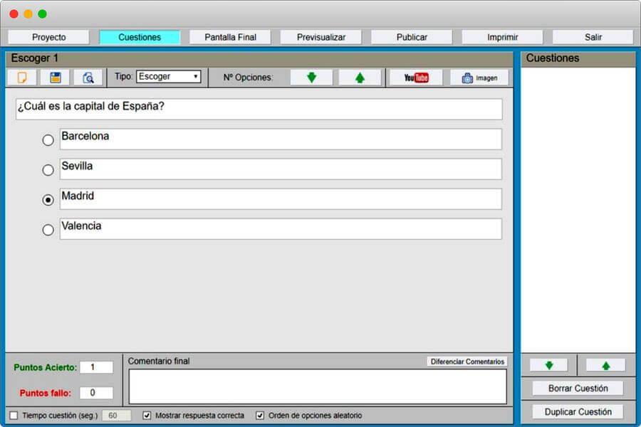 Crear cuestionarios online y gratis para imprimir o publicar con Daypo
