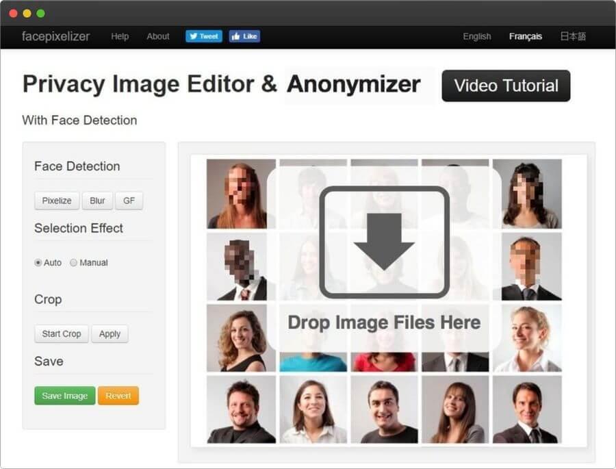 Difuminar caras en fotos online y gratis con Facepixelizer