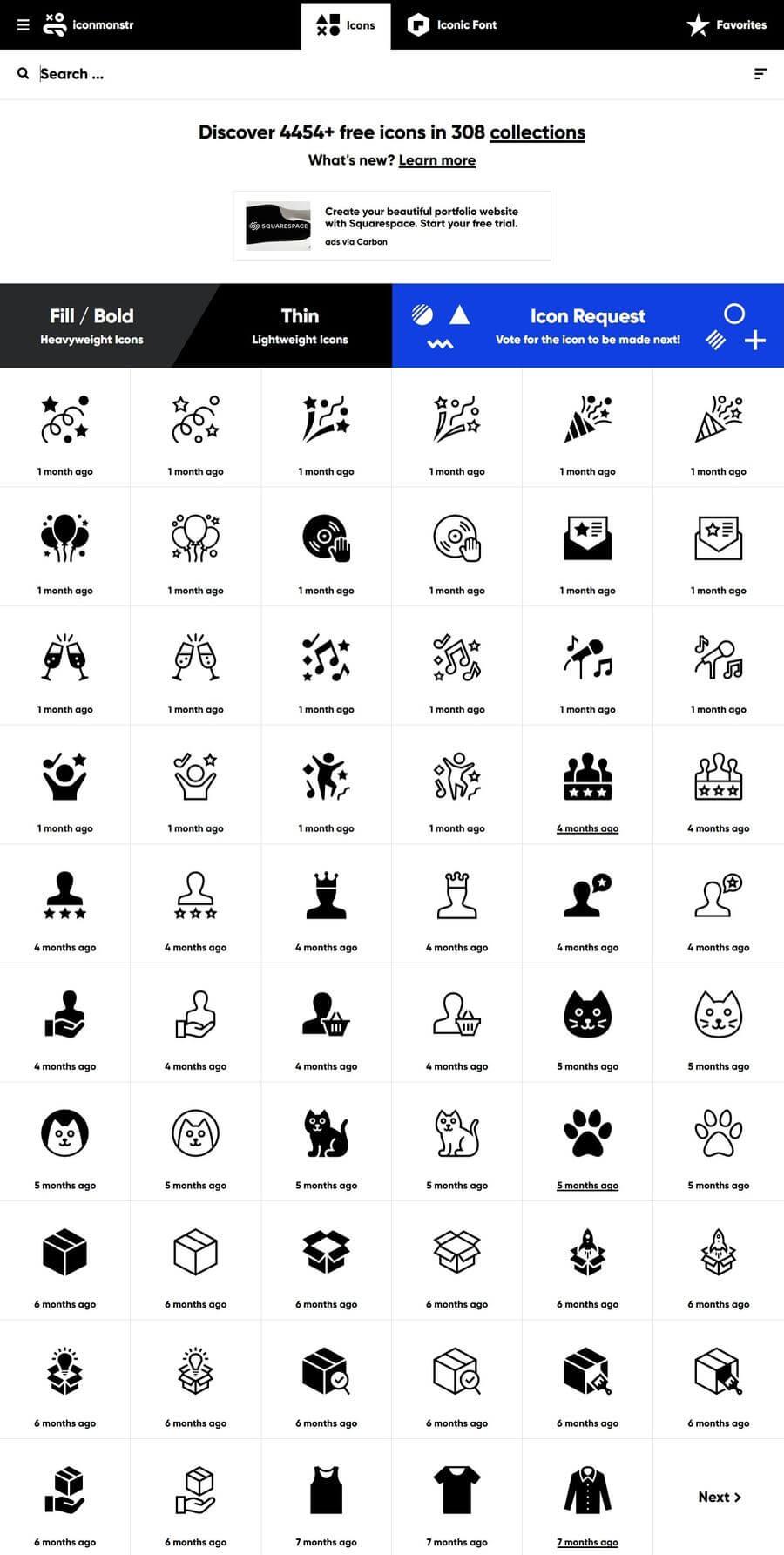 Iconmonstr: miles de iconos gratuitos para descargar y personalizar online