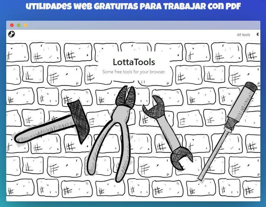 LottaTools: utilidades web gratuitas para trabajar con PDF