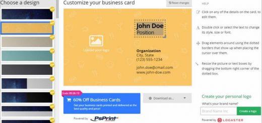 Crear tarjetas de visita online