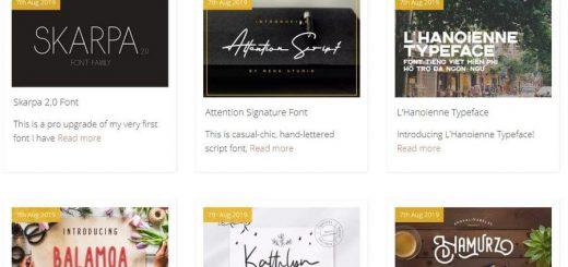 Miles de Tipografías gratuitas para descargar