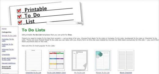 Plantillas de listas de tareas para imprimir