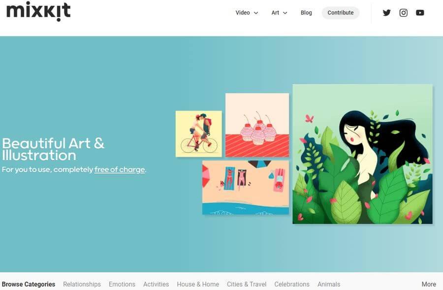 Recursos gratuitos para creativos y artistas en Mixkit