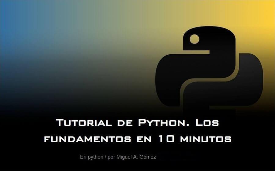 Tutorial de programación en Python