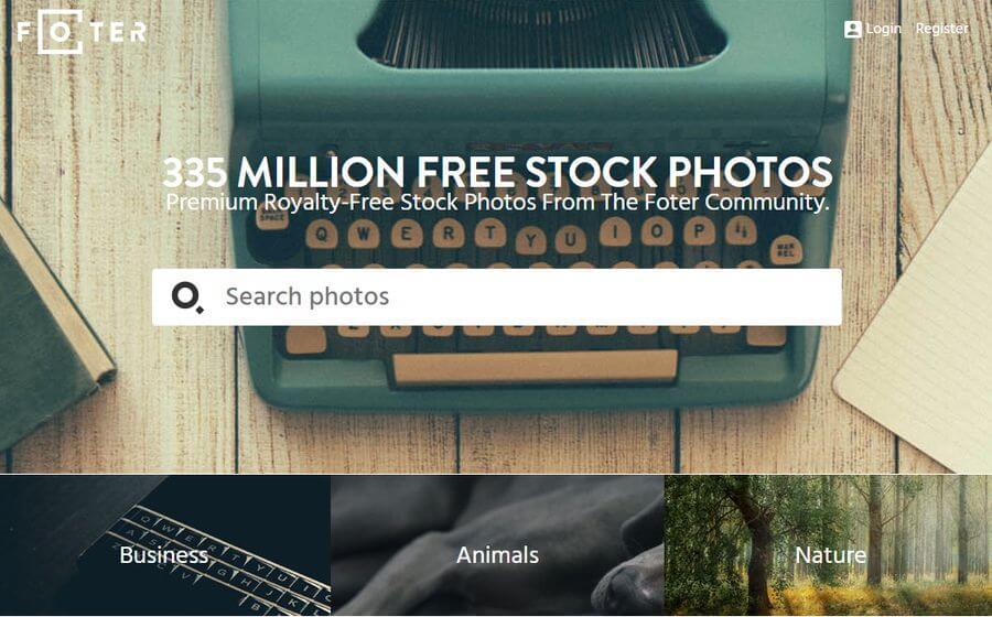 Foter: buscador de fotografías gratuitas con 335 millones de imágenes
