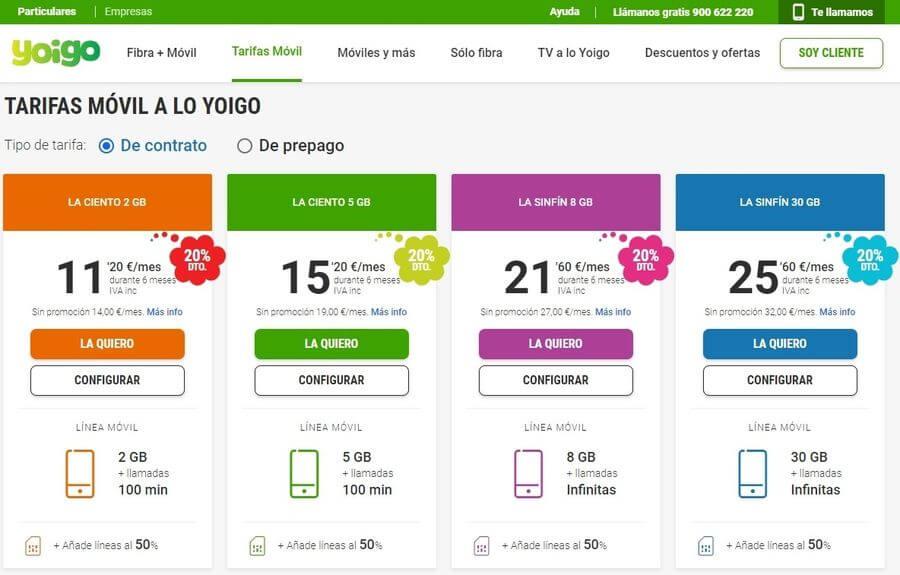 Tarifas móviles de Yoigo para ahorrar después del verano