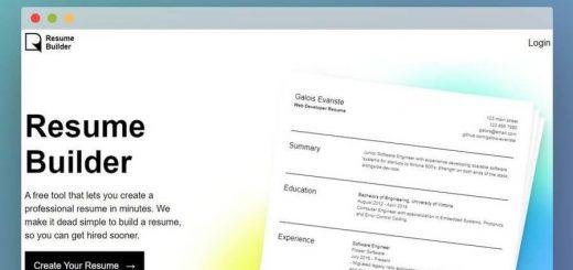 Crear tu currículum con Resume Builder