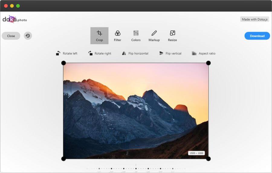 Edición fotográfica online desde el navegador del PC o móvil
