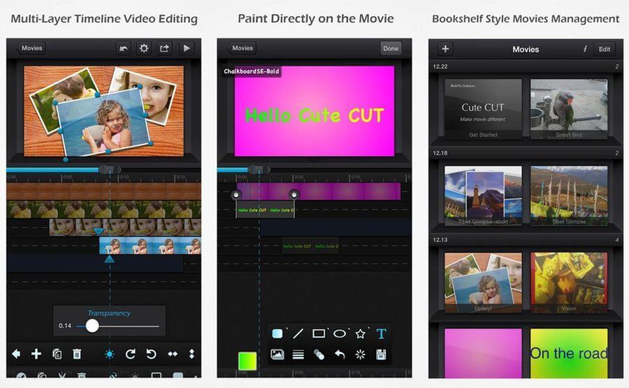 Editor de vídeo para Android gratuito y potente: Cute CUT