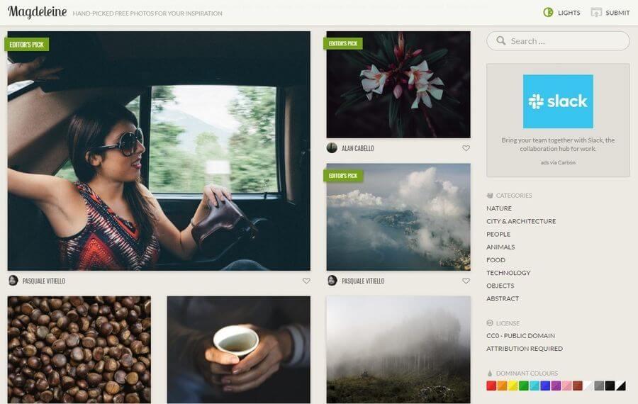 Magdeleine: banco de fotos libres de gran calidad para nuestros proyectos