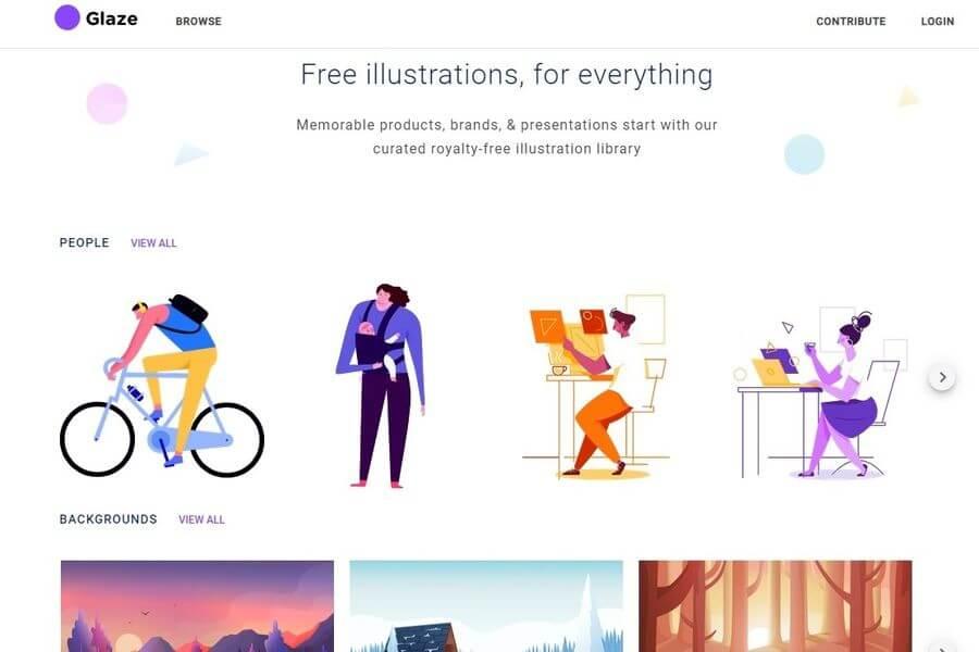 Glaze Stock: ilustraciones de alta calidad gratuitas para tus proyectos