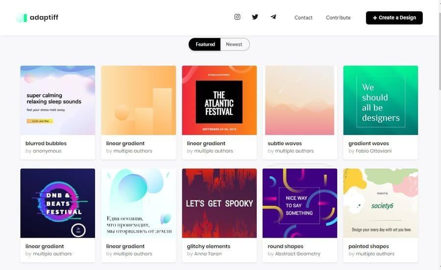 Adaptiff: aplicación web gratuita para crear diseños increíbles fácilmente