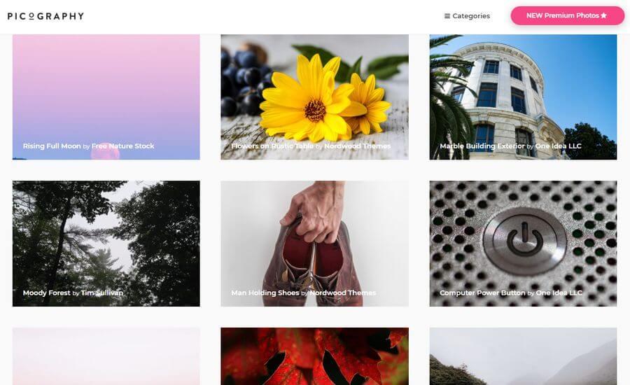 Banco de imágenes gratuitas en alta resolución: Picography
