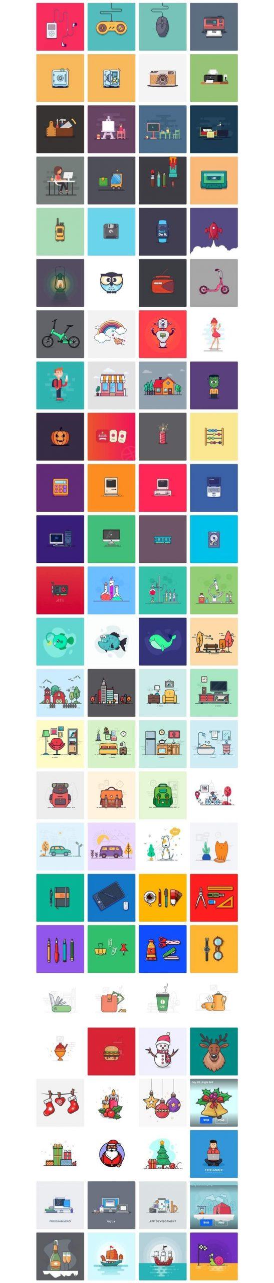 Elegantes ilustraciones gratuitas que puedes usar libremente