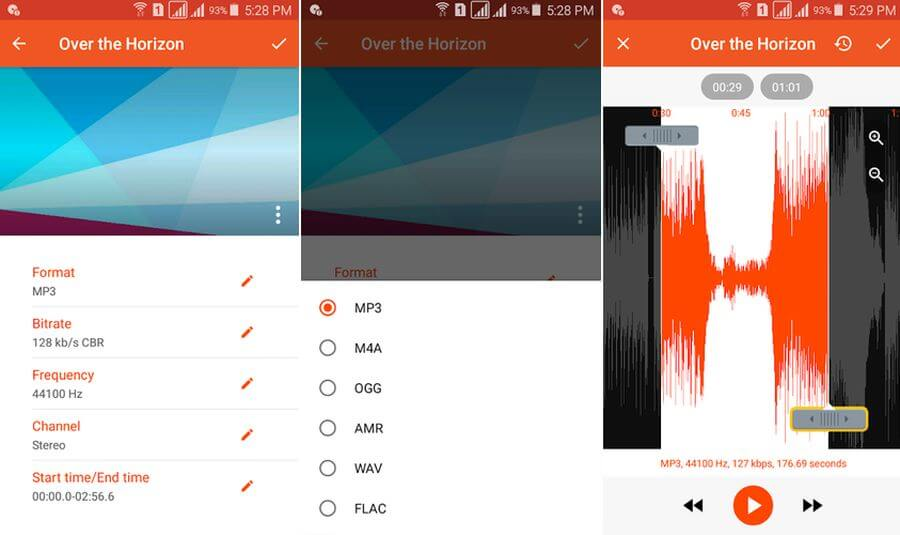 Convertir audio gratis en Android con la app Audio Converter