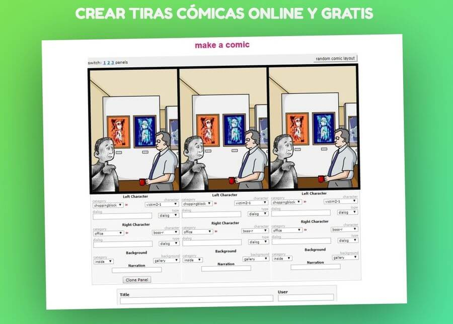 Crear tiras cómicas online y gratis con Stripcreator