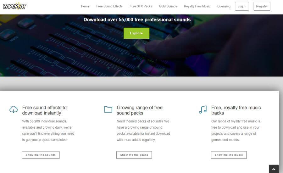 ZapSplat: miles de efectos de sonido gratuitos para tus proyectos