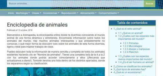 Enciclopedia online de animales