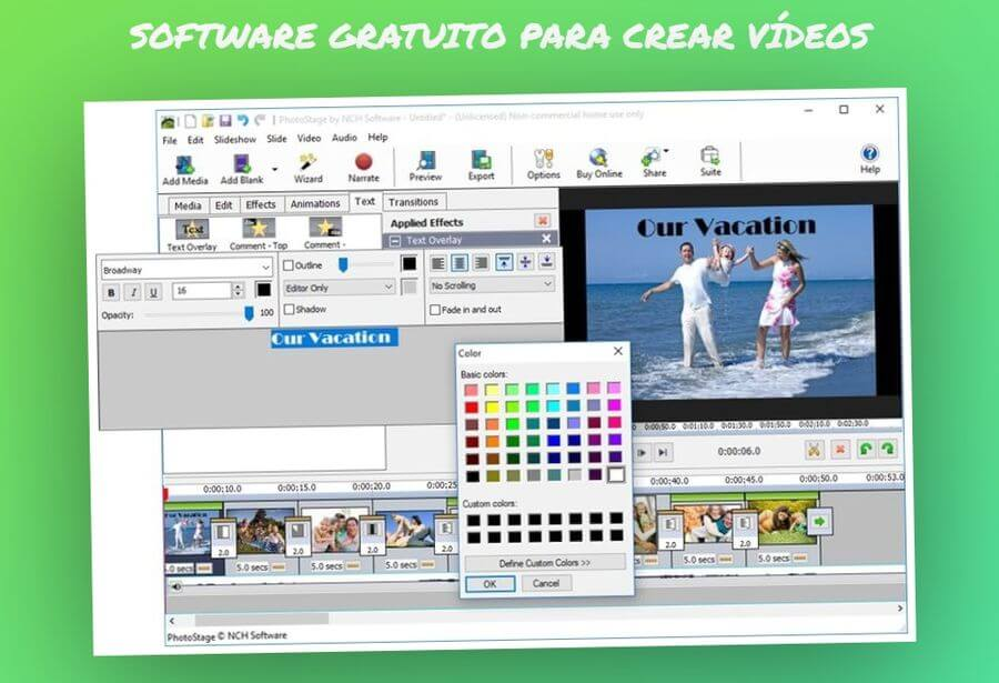 PhotoStage Slideshow Free: software gratuito para crear vídeos