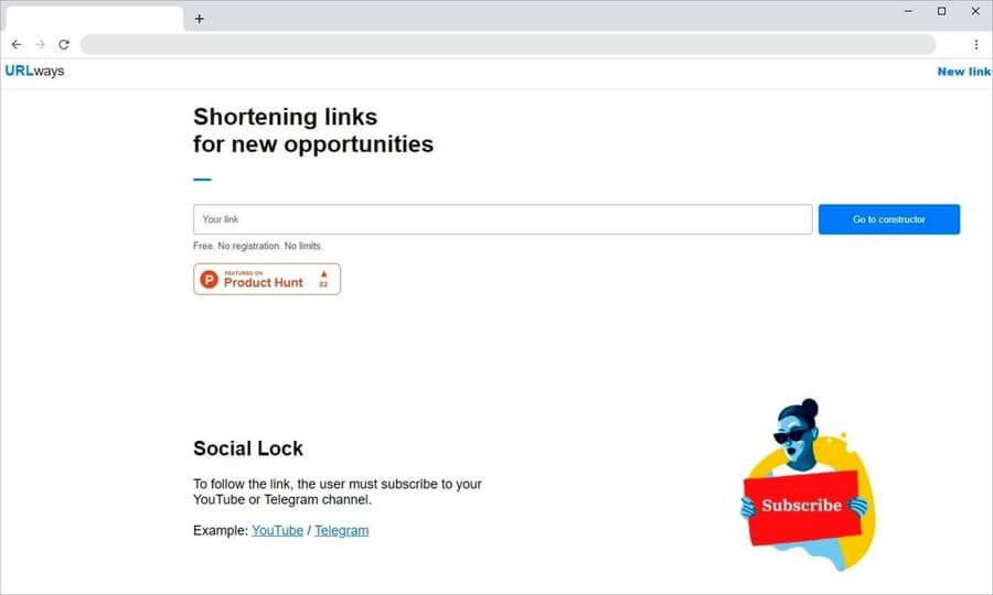 URLways: acortador de enlaces con enrutamiento, bloqueo social y más