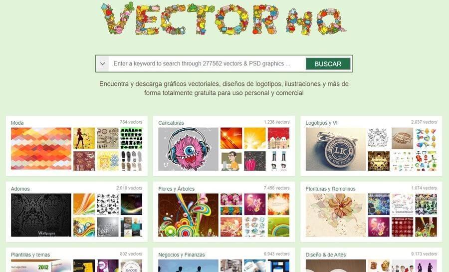 VectorHQ: miles de gráficos vectoriales, ilustraciones y logotipos gratuitos