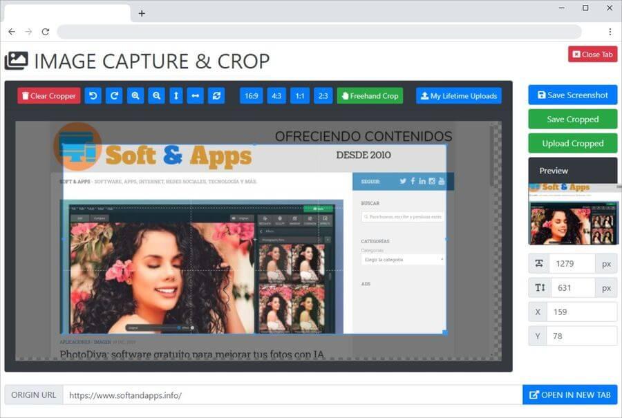 Captura de pantalla en Chrome con una extensión gratuita