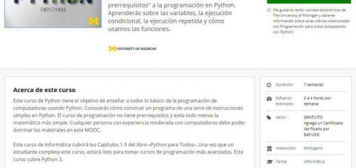 Curso de iniciación a Python