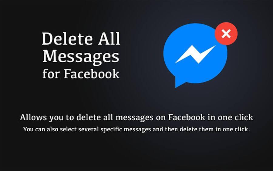 Eliminar todos los mensajes de Facebook con una extensión de Chrome